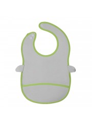 Animal Bib With Pocket-Green Frog