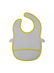 Animal Bib With Pocket-Brown - Monkey